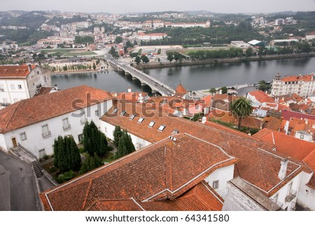 Overlooking town of Coimbra, Portugal