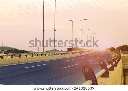 overpass - stock photo