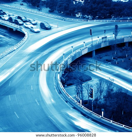 Overpass in china city shanghai - stock photo