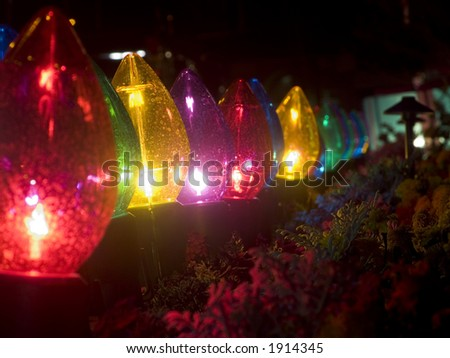 Christmas Lights Outside Stock Images, Royalty-Free Images ...