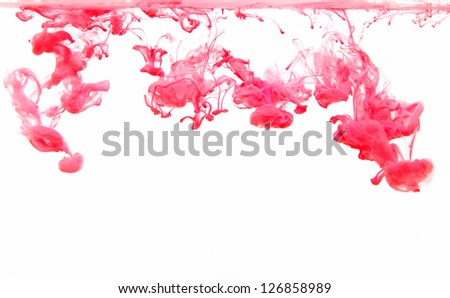 Overspray which dissolves in water - stock photo