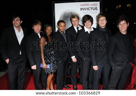 "OverTones at the ""Invictus"" Los Angeles Premiere, Academy of Motion Picture Arts and Sciences, Beverly Hills, CA.  12-03-09"
