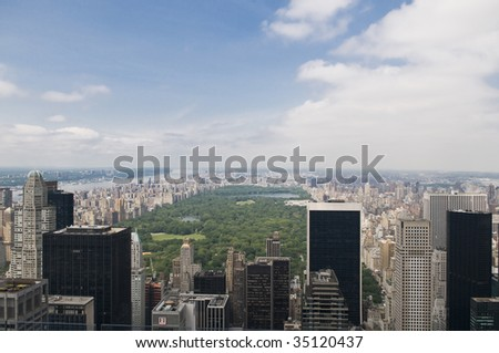 Overview of Central Park - stock photo