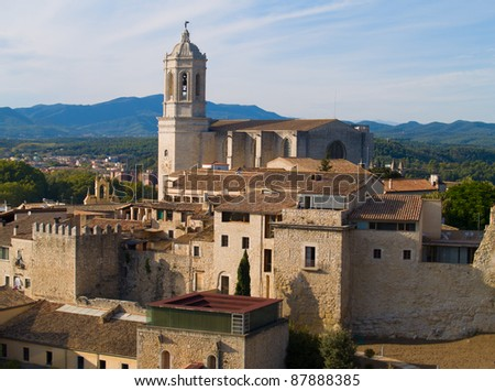 overview of Girona, Spain