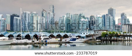 overview of the City of Vancouver - stock photo