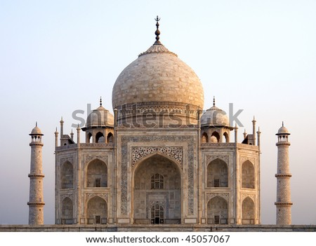 Overview of the Taj Mahal, Agra, India - stock photo
