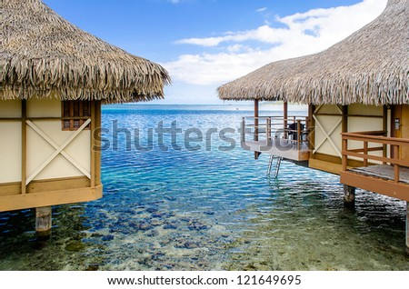 Overwater Bungalows, Moorea, French Polynesia