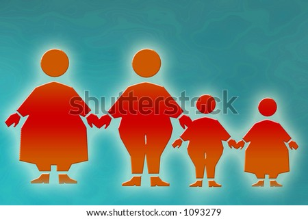 overweight - stock photo