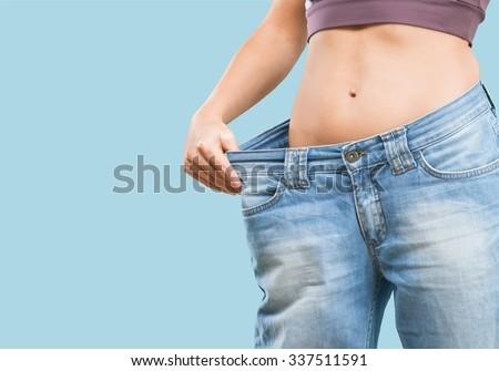 Overweight. - stock photo
