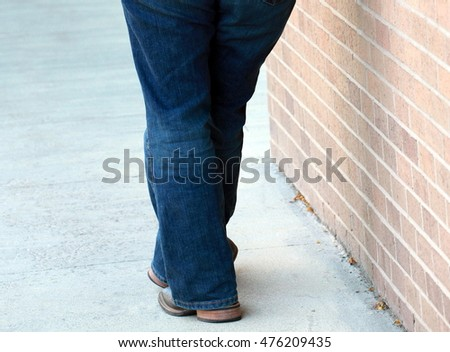 Overweight female beauty standing outside.