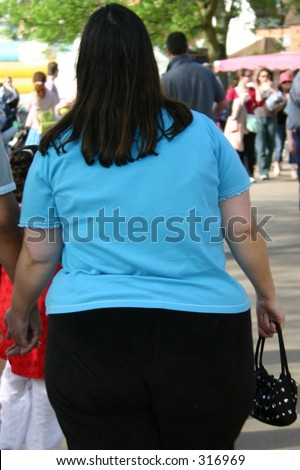 overweight lady - stock photo