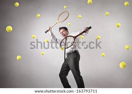 Overwhelmed - stock photo