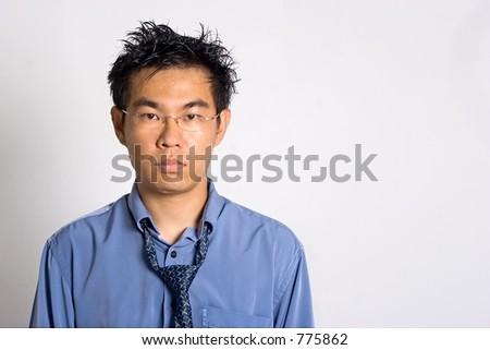 Overwork Asian Adult - stock photo