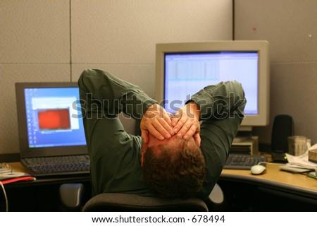 Overworked - stock photo