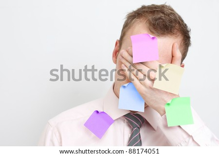 Overworked - stock photo