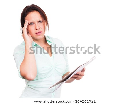 Overworked woman - stock photo