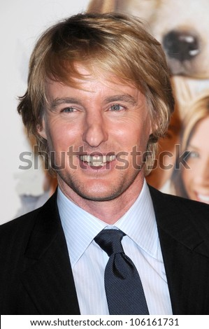 Owen Wilson   at Los Angeles Premiere of 'Marley and Me'. Mann Village Theater, Los Angeles, CA. 12-11-08 - stock photo