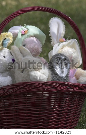 Owl with his Easter buddies