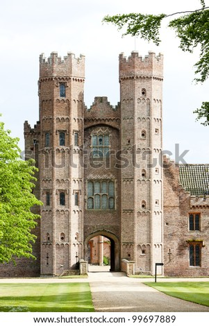 Oxburgh Hall, Oxborough, Norfolk County, East Anglia, England - stock photo