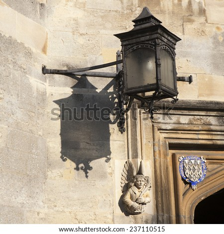 Oxford, England - July 10, 2014, The details of New Building of Oxford Magdalen College, on 10 July 2014 - stock photo
