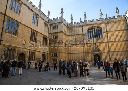 Oxford, England - March 22: View from the University Church of St. Mary in Oxford, England on March 22, 2015.