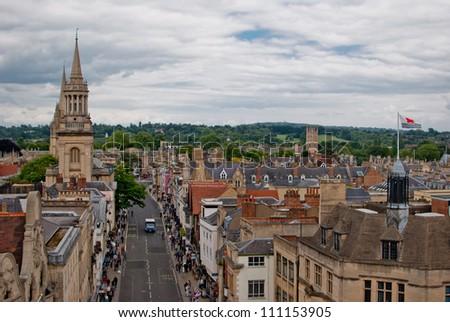 Oxford panoramic view, England, UK - stock photo