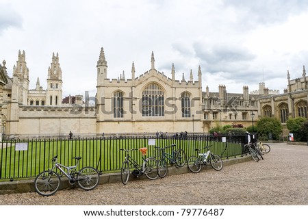 OXFORD, UK - MAY 3 : Brasenose College May 3, 2011 in Oxford. This is one of the constituent colleges of the Uni. of Oxford and home to the oldest boat club in the world, Brasenose College Boat Club - stock photo