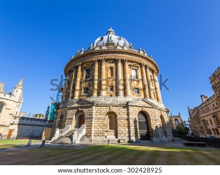 OXFORD, UK - MAY 19, 2015: The Radcliffe Camera. It is a building that houses the Radcliffe Science Library in the University of Oxford, England.