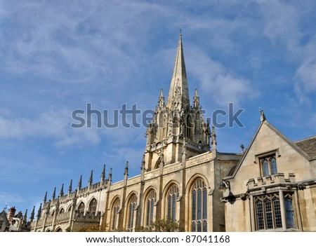 Oxford University Church of St Mary the Virgin - stock photo