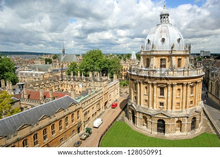 Oxford University from above - stock photo
