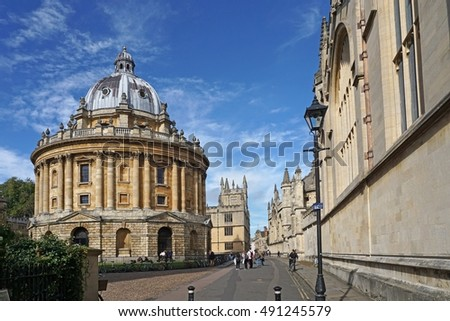 Oxford University, looking down Catte Street from High Street