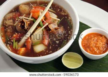 oxtail soup asian food - stock photo