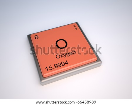 Oxygen chemical element of periodic table with symbol O