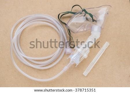 oxygen mask - stock photo
