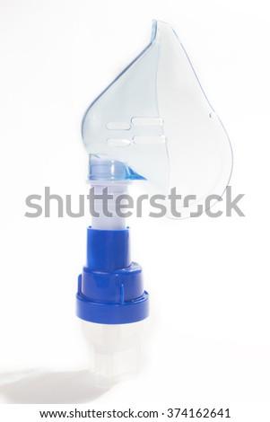oxygen mask for inhalation - stock photo