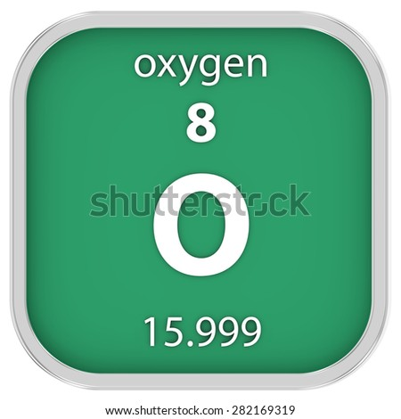 Oxygen material on the periodic table. Part of a series.