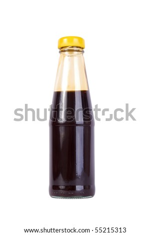 Oyster sauce on a white background isolated - stock photo