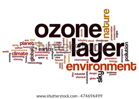 Ozone layer word cloud concept