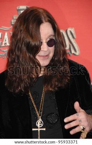 OZZY OZBOURNE - presented with Scream Rock Immortal Award - at the Spike TV Scream Awards 2006 at the Pantages Theatre, Hollywood. October 7, 2006  Los Angeles, CA Picture: Paul Smith / Featureflash