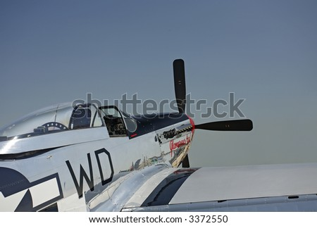 P-51D Mustang, Rear Oblique View - stock photo