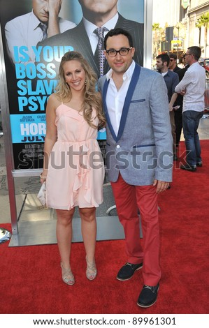 "P.J. Byrne & wife at the Los Angeles premiere of his new movie ""Horrible Bosses"" at Grauman's Chinese Theatre, Hollywood. June 30, 2011  Los Angeles, CA Picture: Paul Smith / Featureflash"