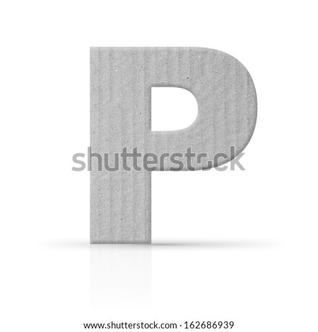p lettercardboard texture