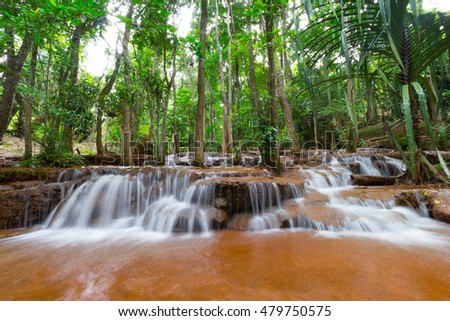 Pa-Chareon waterfall in Tak Thailand