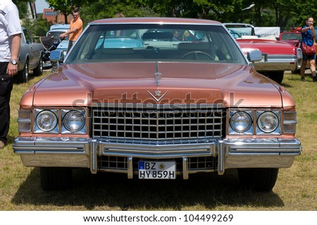 """PAAREN IM GLIEN, GERMANY - MAY 26: Cars Cadillac Fleetwood Seventy-Five """"The oldtimer show"""" in MAFZ, May 26, 2012 in Paaren im Glien, Germany - stock photo"""
