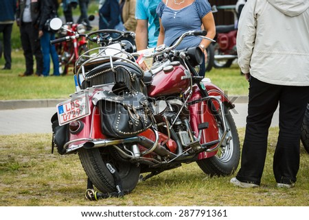 PAAREN IM GLIEN, GERMANY - MAY 23, 2015: Motorcycle Indian Chief Vintage. The oldtimer show in MAFZ.
