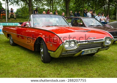 PAAREN IM GLIEN, GERMANY - MAY 23, 2015: Personal luxury car Ford Thunderbird (third generation). The oldtimer show in MAFZ.