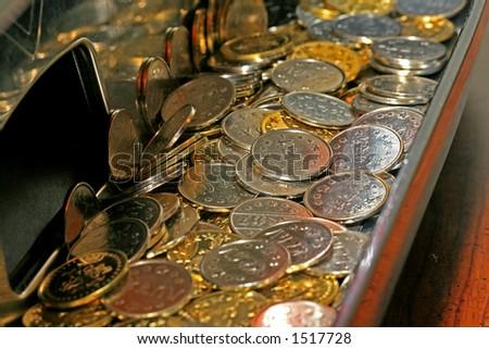 Pachislo tokens - stock photo