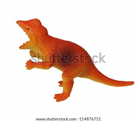 Pachycephalosaurus, Toy plastic dinosaur isolated on white background - stock photo