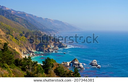 Pacific Coast Highway, Big Sur area, California - stock photo