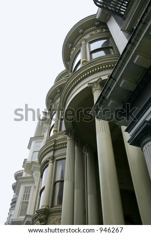 Pacific Heights Victorian - stock photo